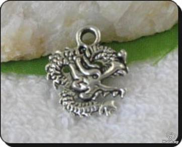 ABPSM-D017 Lovely Silver Dragon Pendant Necklace