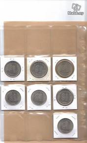 Malaysia Parliment RM1 coin complete set