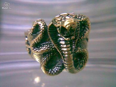 ABRB-S007 Bronze Cobra Snake Finger Ring Size 8