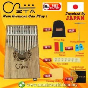 Zta 17 key koa kalimba with eq pack thumb piano
