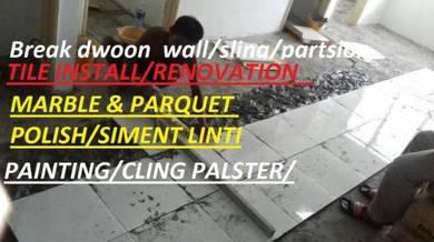 Floor Epoxy Painting Marble Parquet Polish Tile