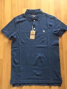 ABERCROMBIE & FITCH blue polo S BRAND NEW