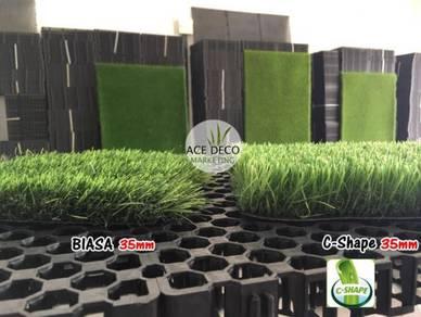 Pemborong Artificial Grass Rumput Tiruan C-Shape 2