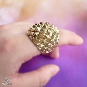 ABRB-R006 Bronze Metal Cute Rivet Ring Size 8.5
