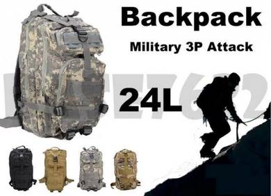 Army Military 3P Attack Tactical Backpack 24L