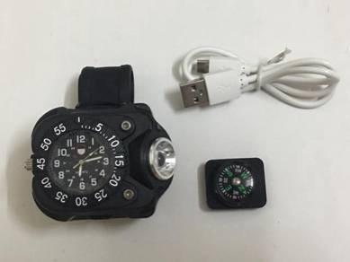 Jam Tangan Lampu Compass Clock Wrist Watch Watches