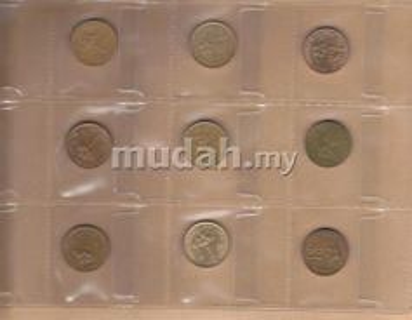 Malaysia RM1 series 1989 coin set
