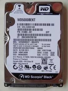WD Scorpio Black SATA III hard drive, 2.5