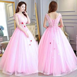 Pink wedding bridal gown dress RB0518