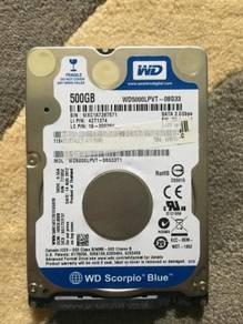 Hard Disk WD 500gb 2.5 ( Laptop/Notebook )