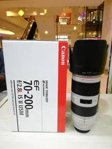Canon ef 70-200mm f2.8l is ii usm lens-96% new