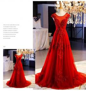 Red wedding evening prom dress gown RBP0997