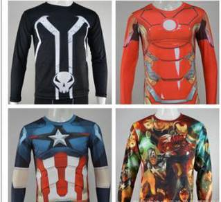 Ironman 3d long sleeve marvel captain america