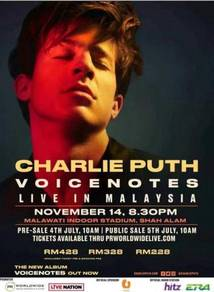 Charlie Puth Ticket for Sale