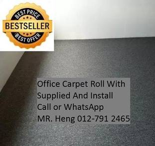 Classic Plain Design Carpet Roll with Install 80LC