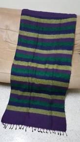 Beautiful handloomed pre yak wool blanket NO 1