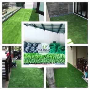 Pemborong Artificial Grass Rumput Tiruan C-Shape 4