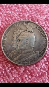 1901 Emperor wilhelm ii silver coin