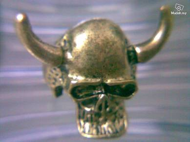 ABRB-S009 Bronze Metal Skull Finger Ring - Size 9