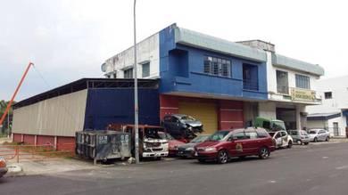 Factory double storey semi detached corner at tampoi johor bahru johor