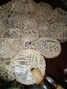 Vintage crocodile snake handbag moda italiana SLG