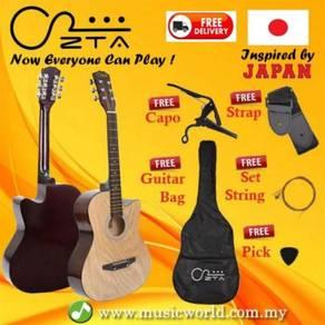 Zta 38 inch acoustic guitar mandschurica wood