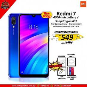 New Xiaomi Redmi 7 3+32 Msia Set + gift rm1000