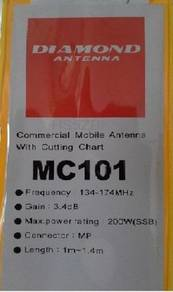 Diamond Mobile Antenna MC101 VHF For Walkie Talkie