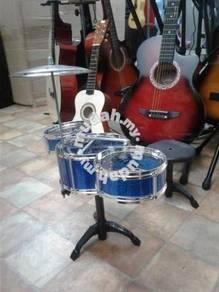 Drum Set 3 pcs (Colour: Blue)With Stool