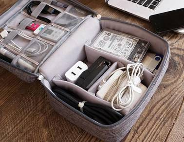 USB Cable Storage Portable Travel Waterproof Case