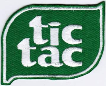 Tic Tac F1 Car Racing Badge Iron On Patch