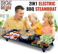 Magic bullet 2 in 1 electic bbq and steamboat