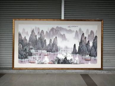 Feng Shui Painting w/Frame L.340 X H.190cm * L25 A