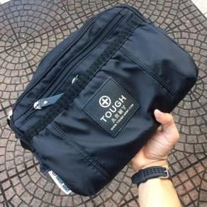 Men tough black slingbag beg