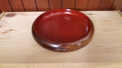 Aipj Japan wood lacquer 10 inch round bowl plate