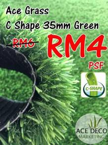 Artificial Grass / Rumput Tiruan Serat C-Shape 27