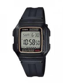 Casio Digital Rectangular Rubber Watch F-201WA-9AD