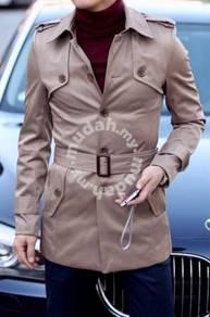Korean stylish pro-elegant single-breasted coat