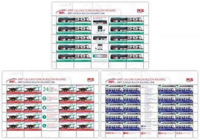 Mint Stamp Sheet Mass Rapid Transit Malaysia 2017