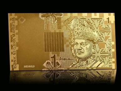 Pcol RM1 Gold Aisyah Aishah Duit Wang Banknotes