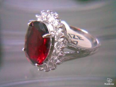 ABRS9-R002 Noble Royal Princess Red Crystal Ring 7