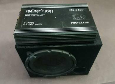 Power amp + box 10inch