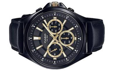 Casio Men Multi Hands Leather Watch MTP-E303BL-1AV