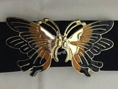 Vintage Gold Butterfly Tali Pinggang Belt Antik