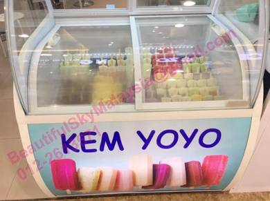 Display Freezer Gelato Peti Aiskrim Corek Icecream