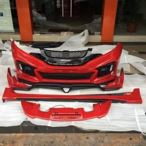 Honda jazz gk mugen rs bodykit ori pp with paint