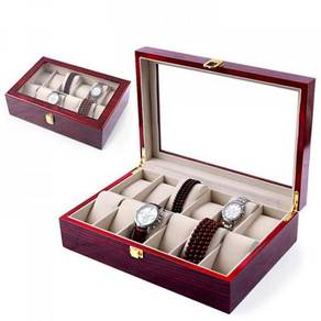 Wooden watch box / kotak jam kayu 01