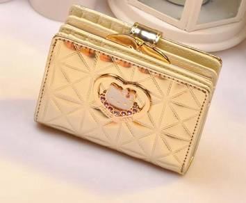 Hello kitty pink gold wallet purse RBHB035