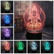 3D Buddha LED Light With Changing Colors