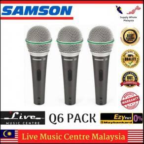 Samson Q6 Dynamic Handheld Microphone (3-Pack)
